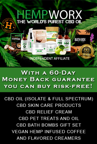HempWorx 60-Day Money Back Guarantee on Pure CBD Oil