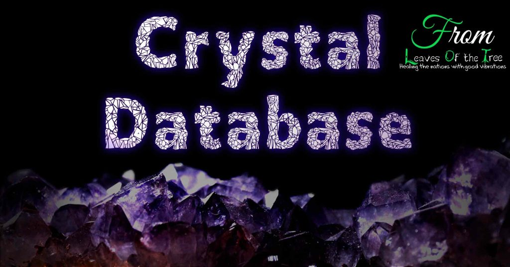 Crystal Database Searchable List of Crystals